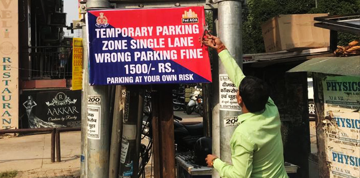 Indirapuram: Two new spots fixed to address parking woes