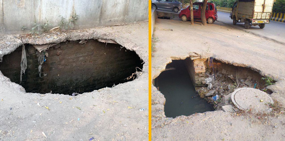 RESIDENT SPEAK: Broken drainage dangerous for passersby in Noida