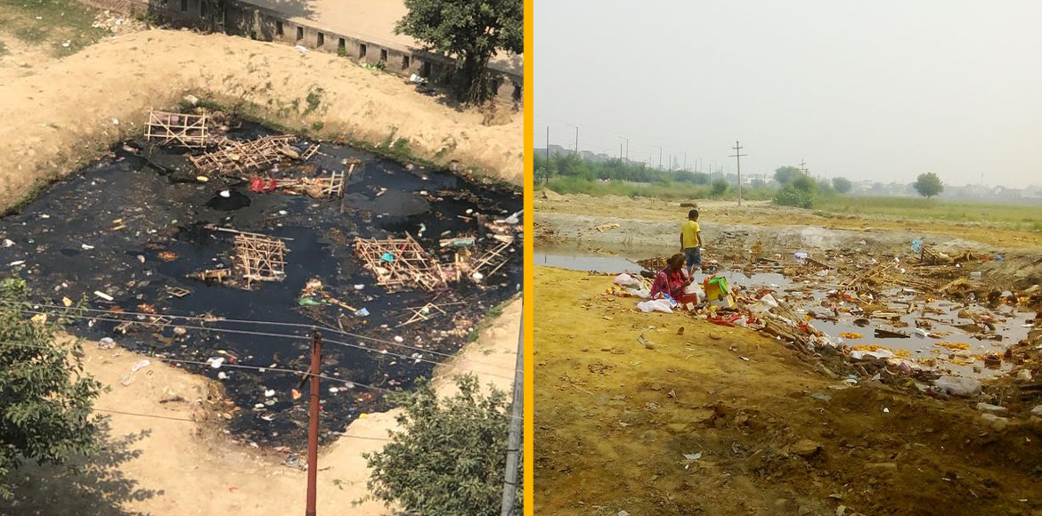 Left to rot, artificial immersion ponds give Noida, GreNo residents goosebumps