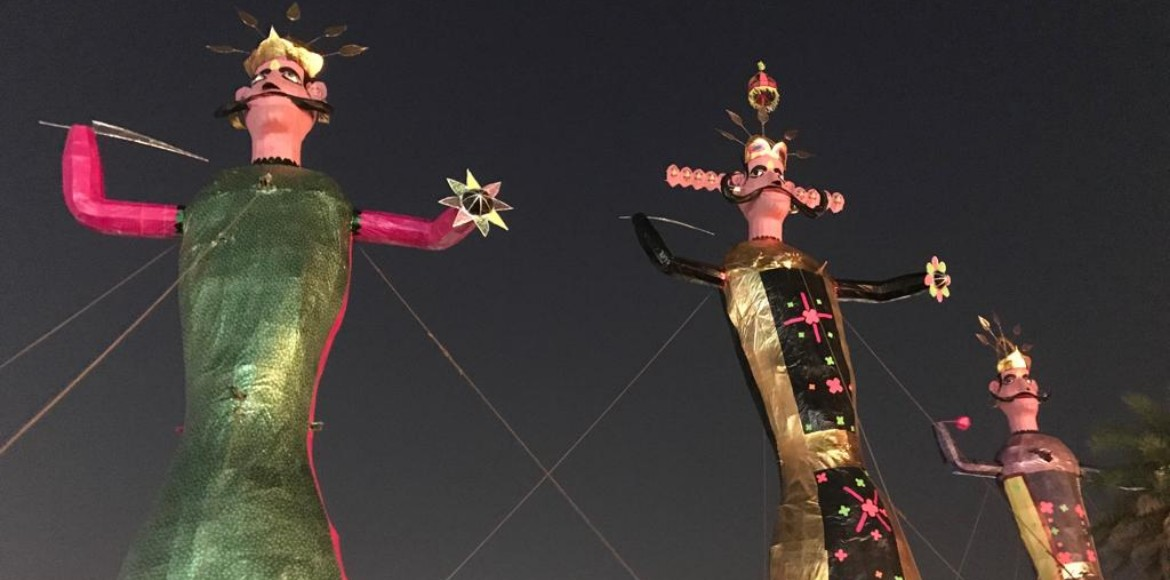GreNo: Mammoth Ravana at Central Park heralds pollution-free Dussehra