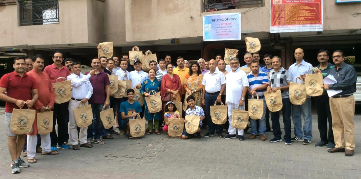 Helping Others distributes jute bags in Gaur Green