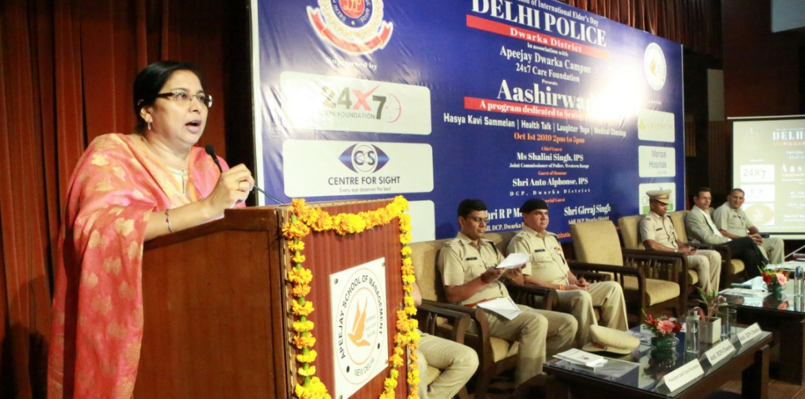 Delhi Police event on Elders Day cheers up Dwarka senior citizens