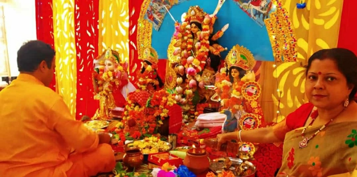 Gaur Sportswood: Second year of Durga Puja second to none