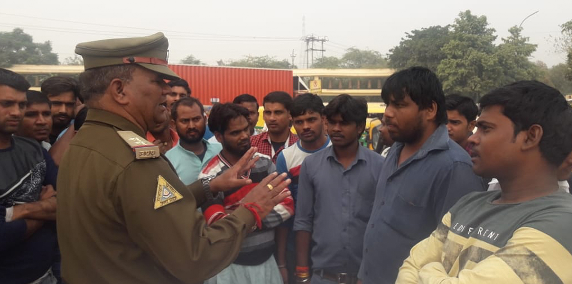 GB Nagar: Awareness drive conducted for drivers as traffic month commences