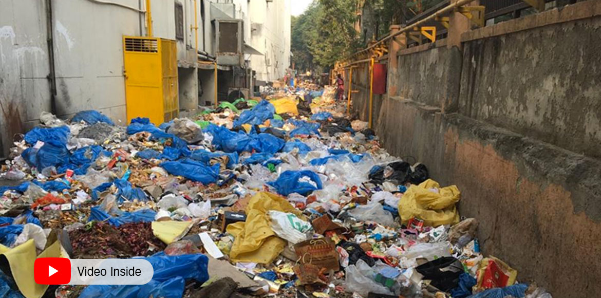 Greater Noida: Alert resident brings heaps of garbage in light; requests action