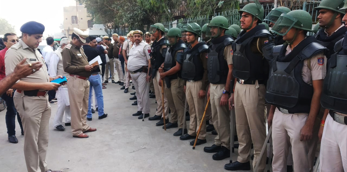 In view of Ayodhya case verdict, police conduct fl