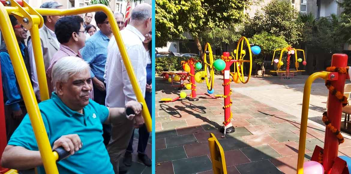 Manish Sisodia inaugurates open gym at Patparganj