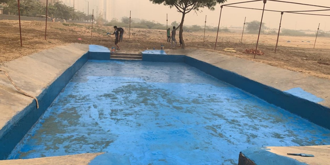 Noida: 7x sectors residents create artificial pond