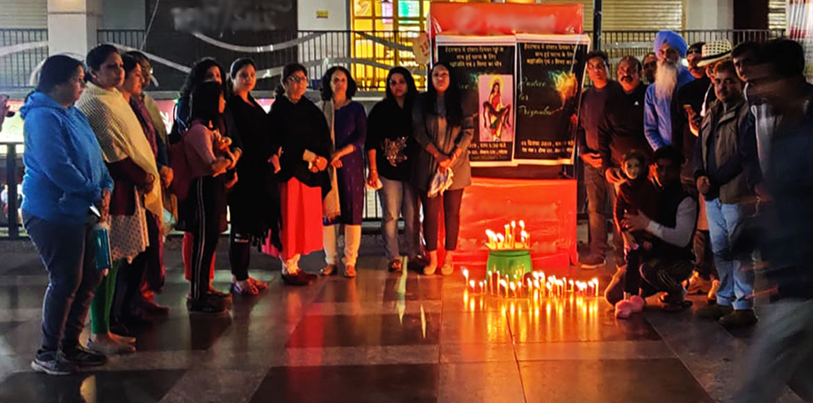 Candle march in Homes 121 in support of Hyderabad rape victim