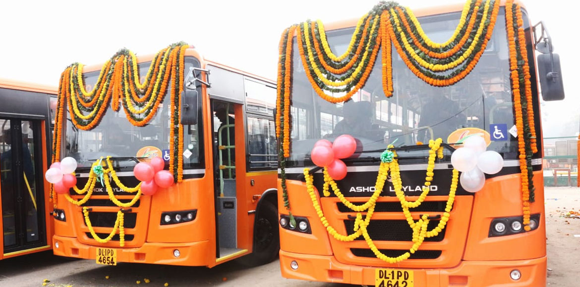 Delhi govt flags off 100 more new cluster buses
