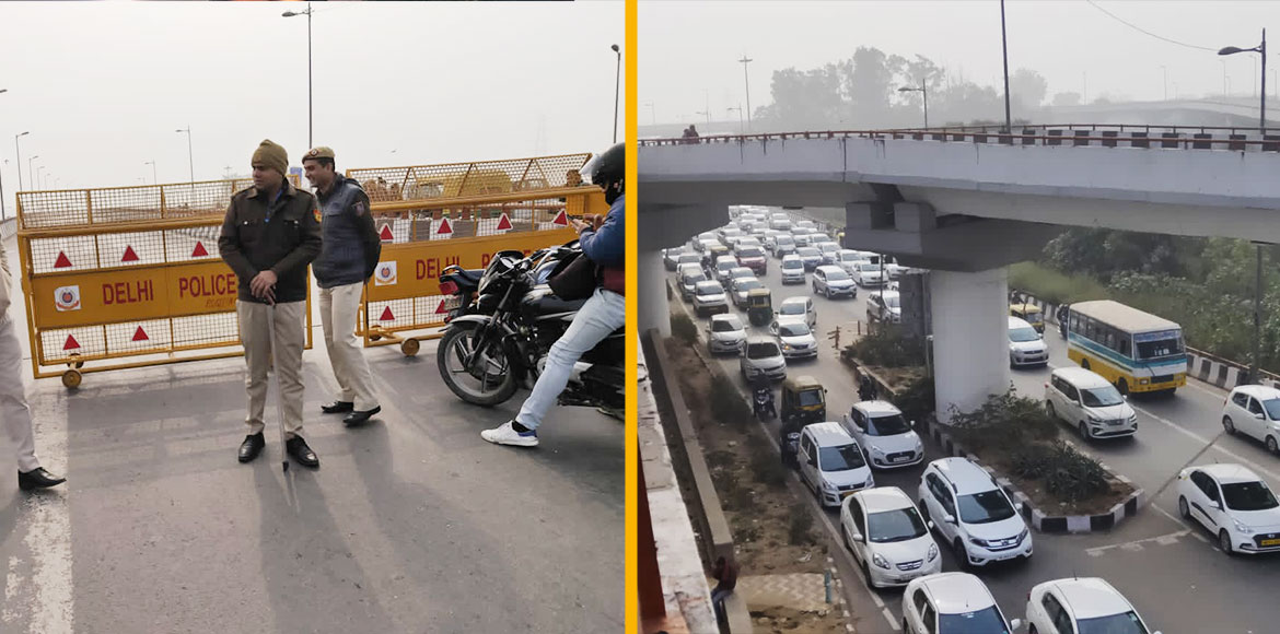Geeta Colony bridge barricaded due to CAA protests