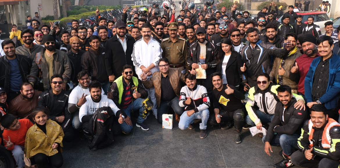 Super bikers from NCR swear by safe riding on road
