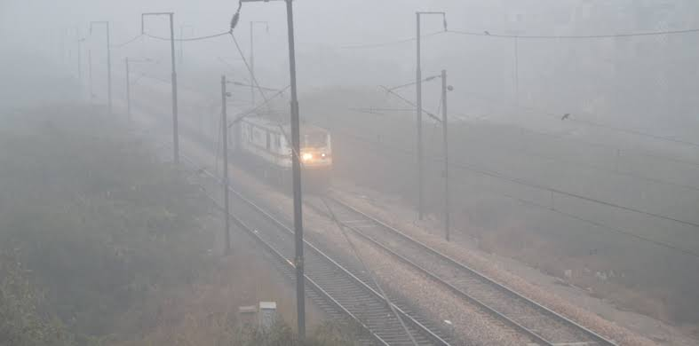 Delhiites woke up to a foggy morning on Sunday