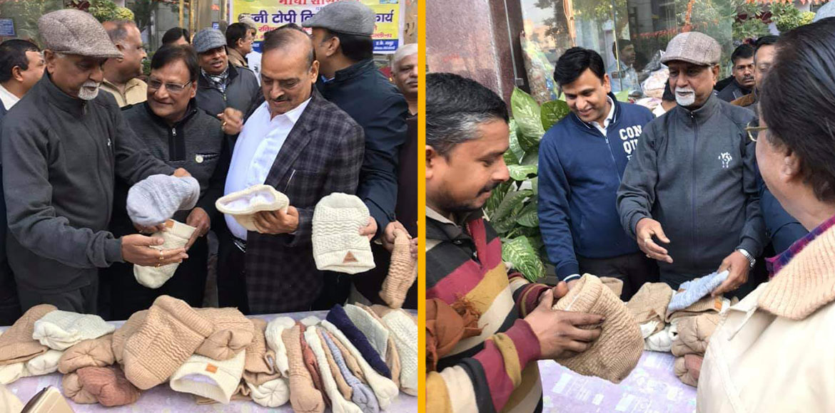 Camp organised in East Delhi to distribute woolen caps to needy