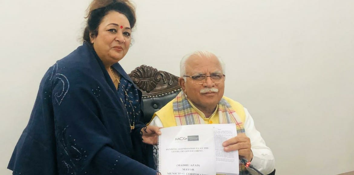 Gurugram mayor submits charter of demands to CM Khattar