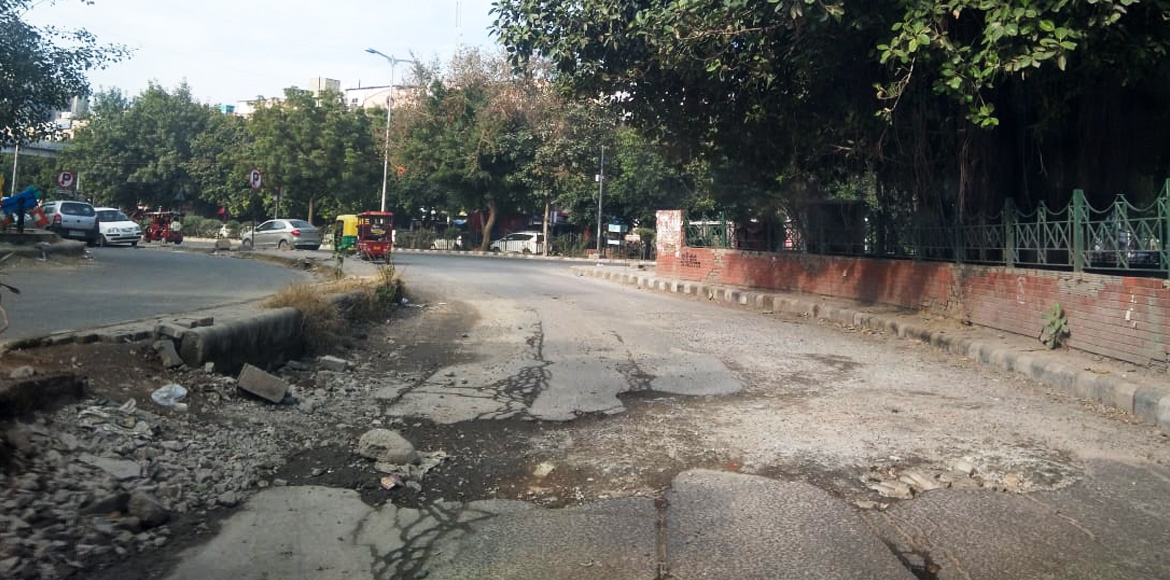The slip road that slipped off the minds of Dwarka authorities