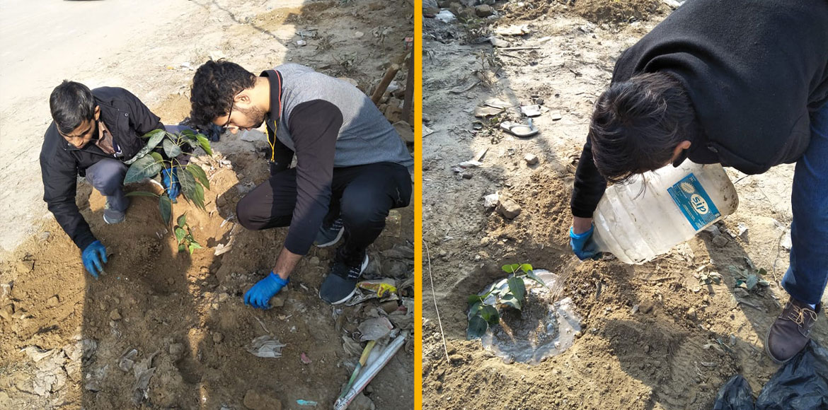 Gurugram: Sec 37C residents carry our cleanliness-cum-plantation drive