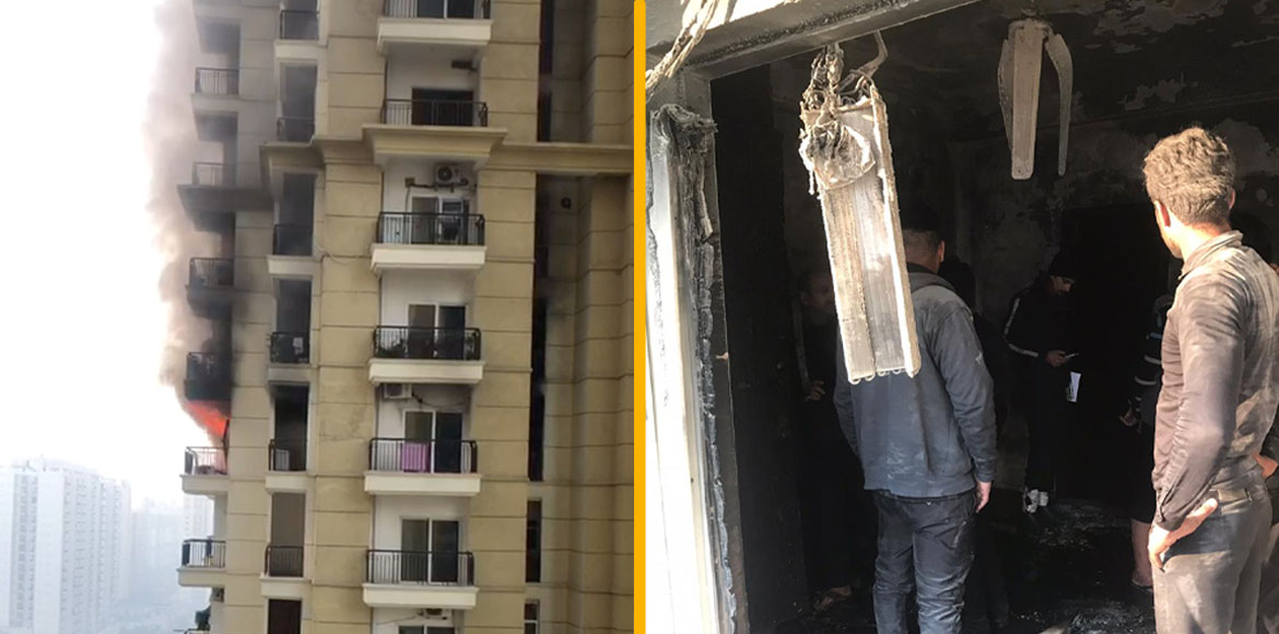 Apex Athena: Major fire at flat due to short-circuit in heater; no casualty