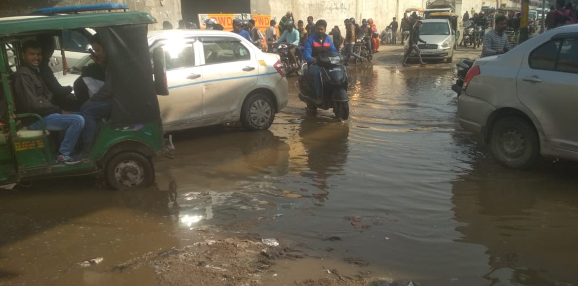 Rain over, East Delhi residents still struggle with waterlogged potholes