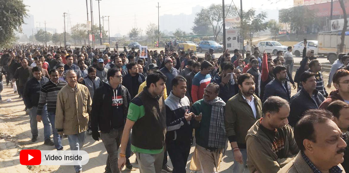 GreNo: Demanding proper security, residents protest against Chandel's murder