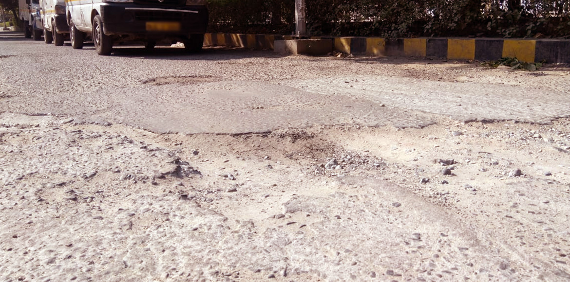 Dwarka: Road in front of Dream Apartments needs immediate attention