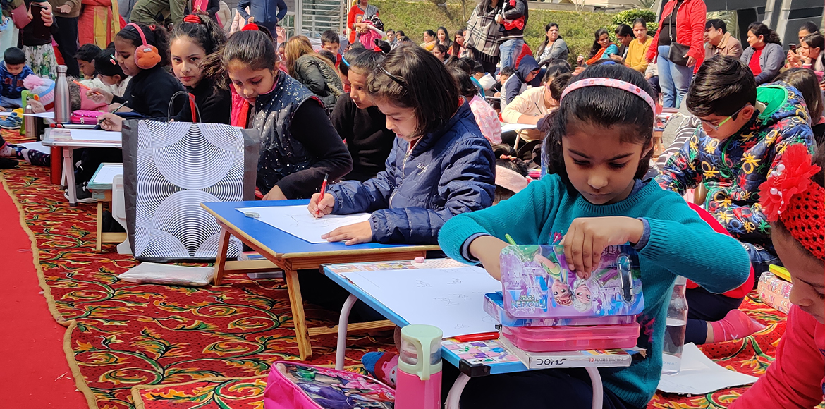 Motherhood Hospital marks R-day with painting contest for children