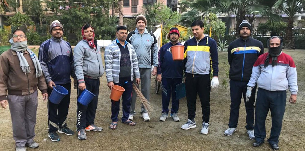 Aravali Apartment: Residents continue cleanliness drive around society
