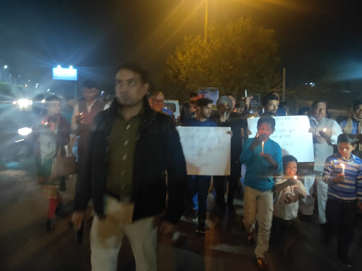Candlelight march held for Pulwama martyrs