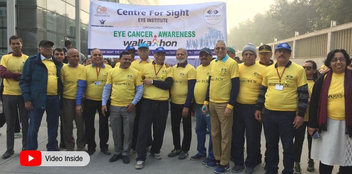 Dwarka: Community walk for awareness on eye cancer
