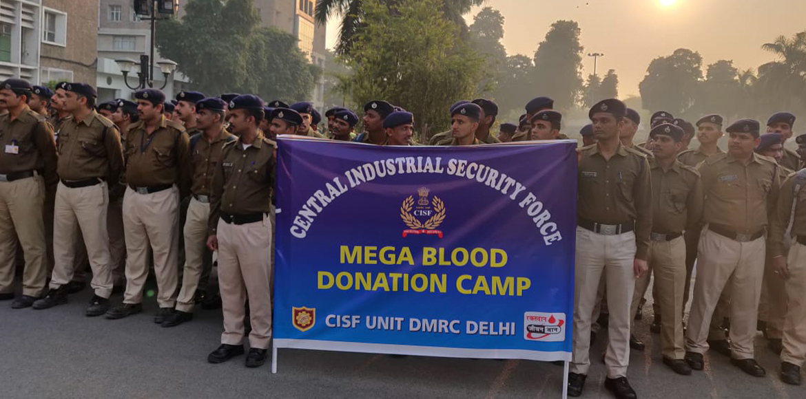 Officers of paramilitary forces wholeheartedly donate blood at AIIMS
