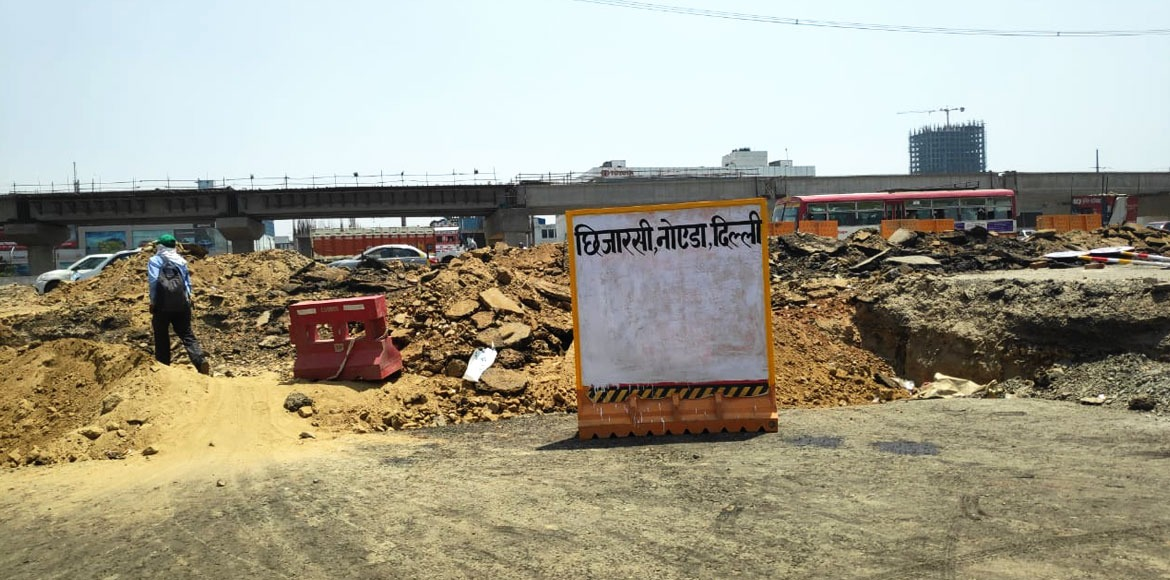 CISF Road closed, a long journey ahead for commuters in Ghaziabad