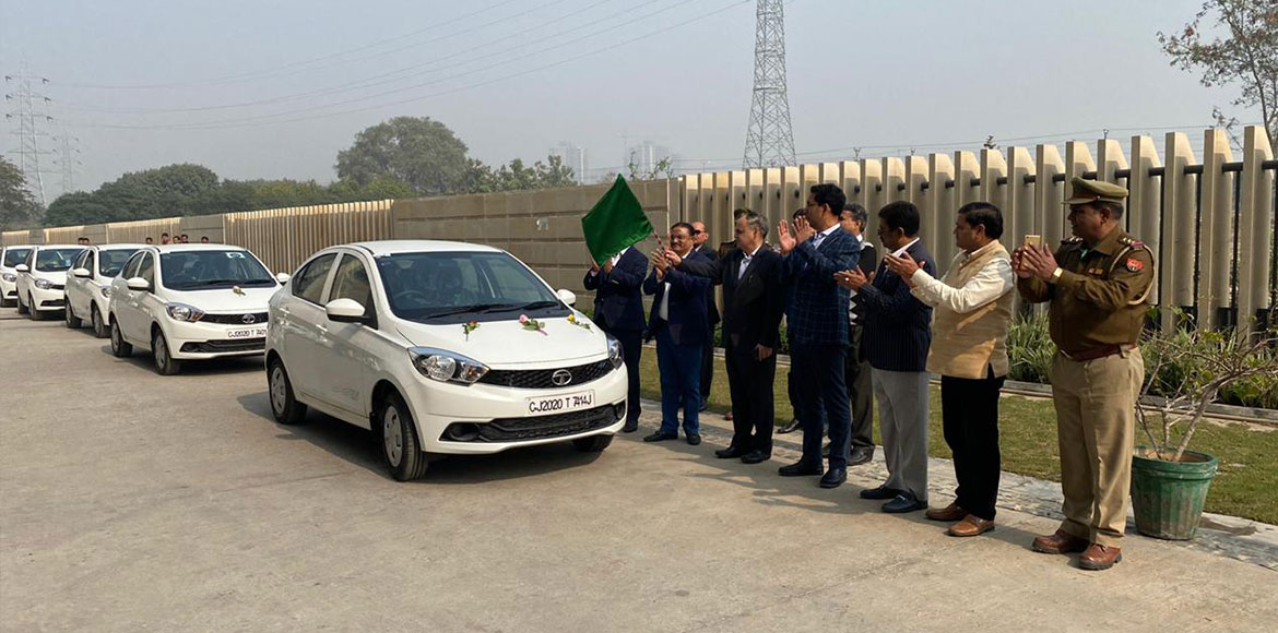 GNIDA flags off five electric vehicles