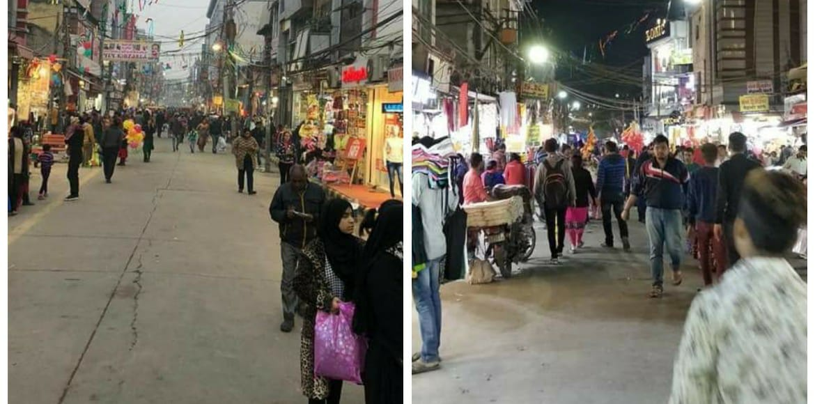 Four months on, Krishna Nagar's Lal Quarter market remains no-vehicle zone