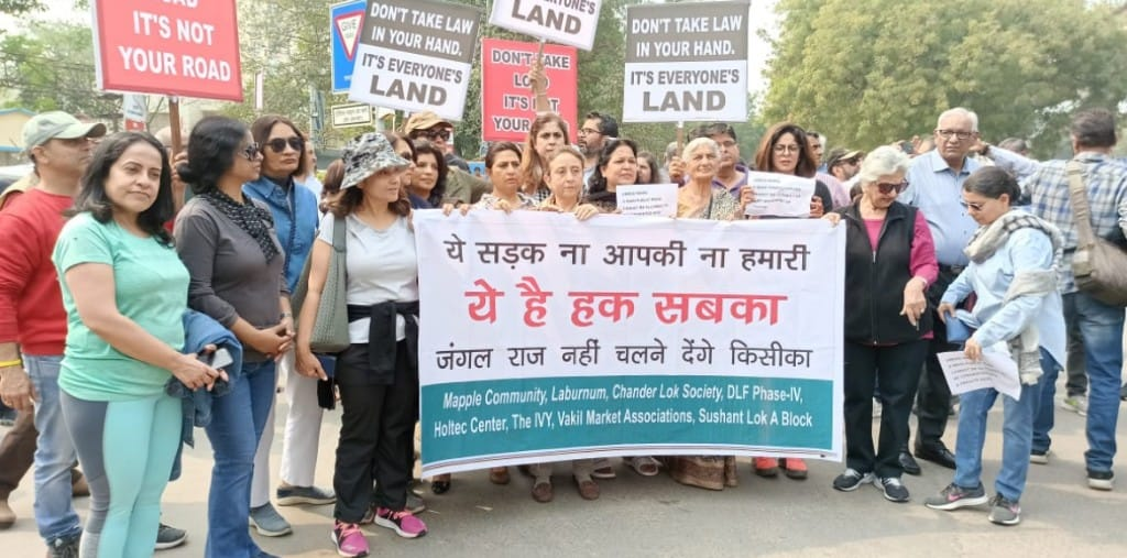 Sushant Lok 1: Residents demand removal of illegal control at Umeed Marg