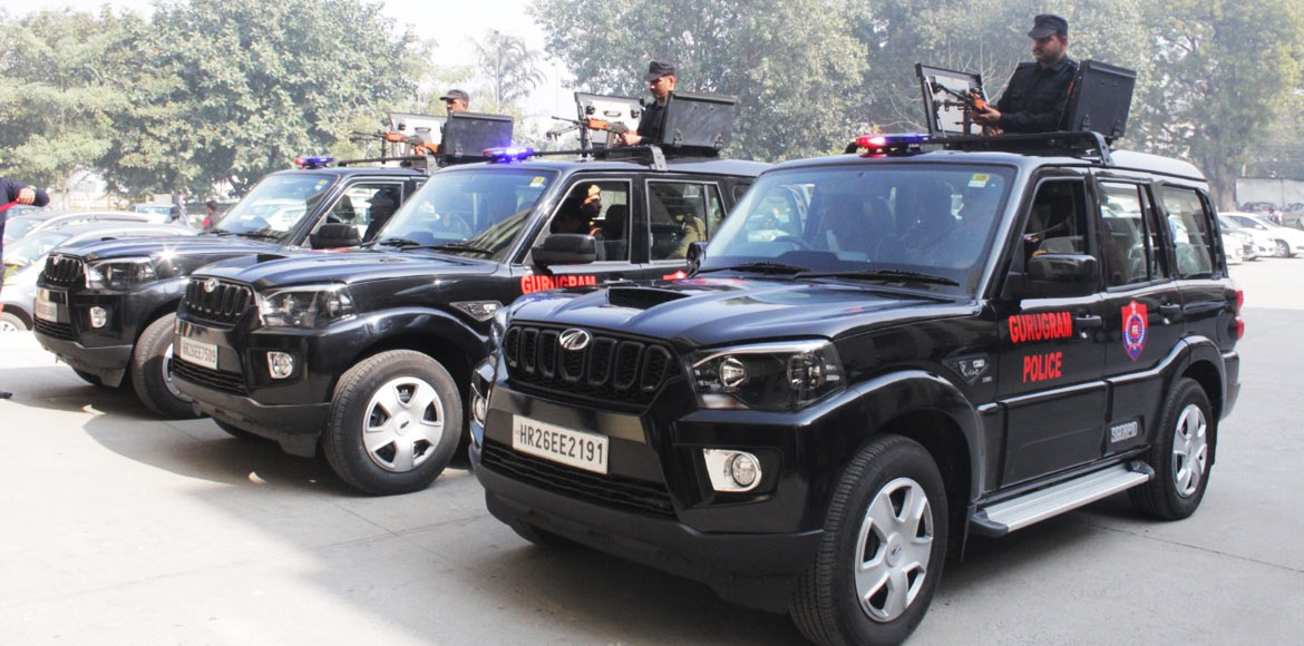 DLF Foundation gifts Gurugram Police with 3 customised Scorpios