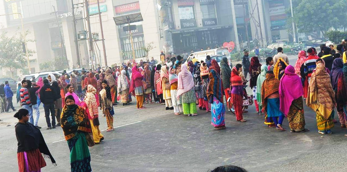 Noida: Commuters face inconvenience due to blockin