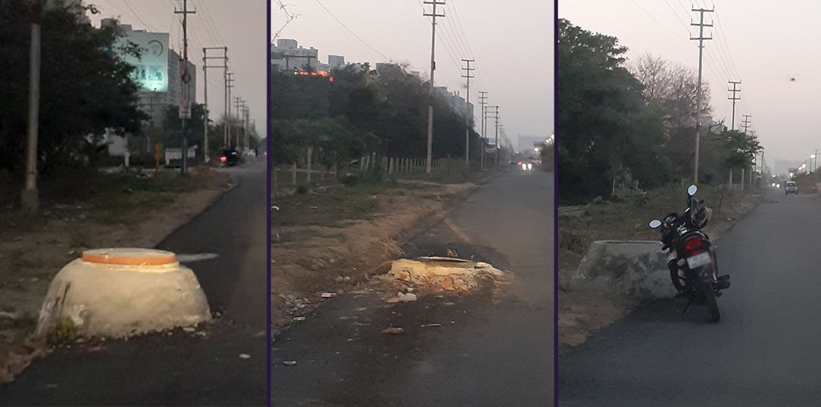 Unlit Greater Noida west roads a commuters' nightm