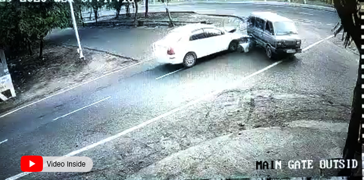 Video footage of a road mishap evokes anger