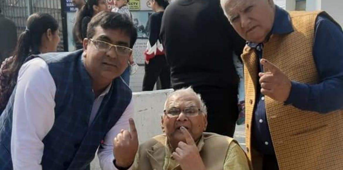 Senior citizens participate enthusiastically in Delhi Assembly elections
