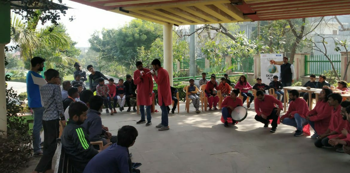 Street play for awareness about waste segregation