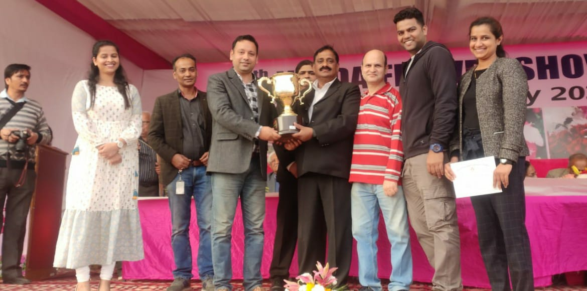 Adobe India System's Layanan flower bags first prize at spring festival