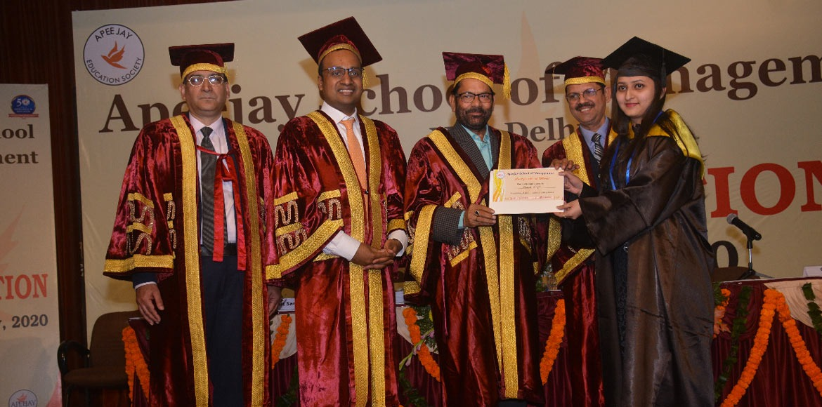 Apeejay School of Management holds 20th convocation day on Friday
