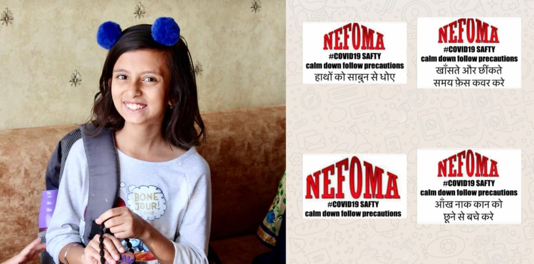 11-year-old spreads awareness about coronavirus through WhatsApp stickers