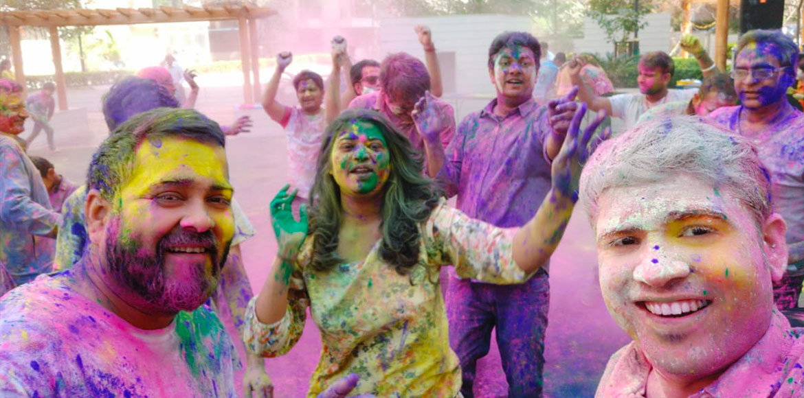 Gaur City celebrated dry Holi this year