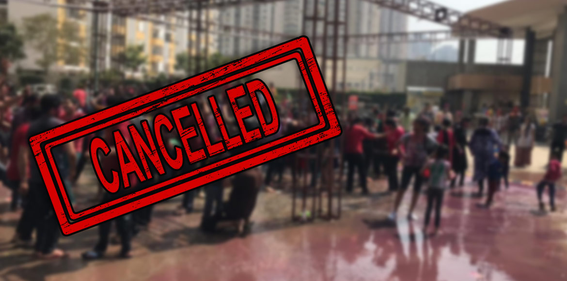 Amrapali Zodiac: First planned Holi event cancelled due to coronavirus