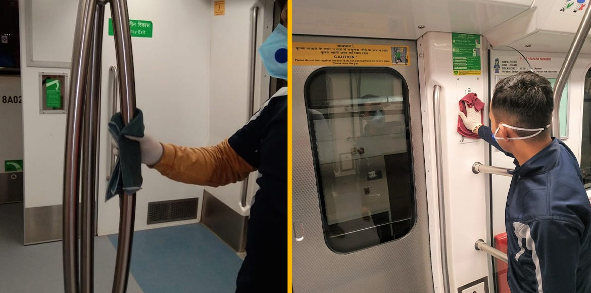 Delhi metro intensifies cleaning in trains as threat of coronavirus increases