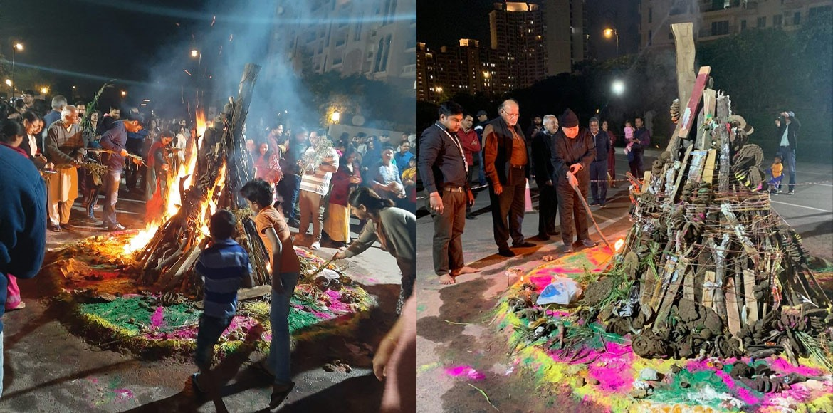 Gurugrammers played Holi with caution in wake of c