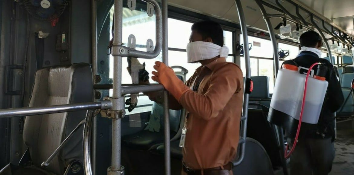 Gurugram: GMCBL to sanitise buses to contain coronavirus