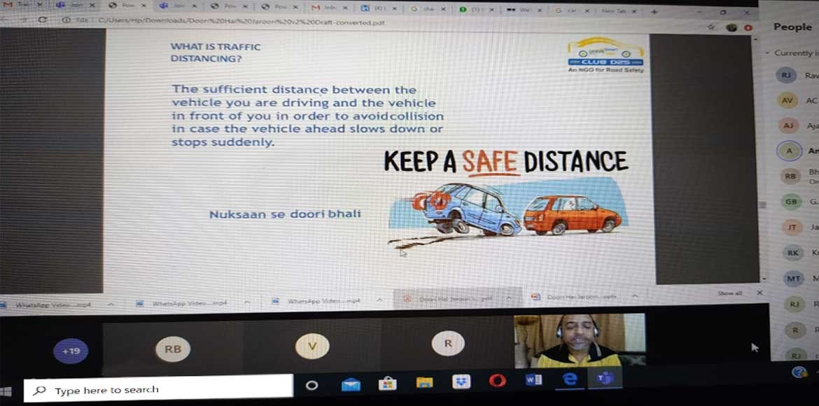 Webinar with focus on road safety organised in Dwa