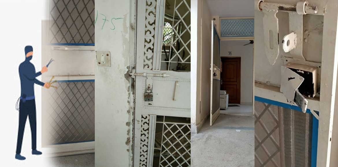 Serial burglaries in four flats reported from DDA flats in Dwarka